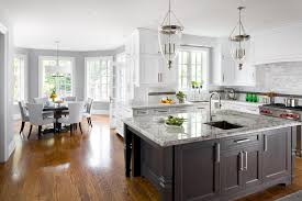 kitchen island with sink kitchen traditional with grey dining