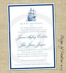 nautical wedding invitation wording vertabox com