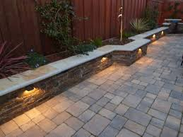 low voltage patio lights sweet walkway patio with wall backyard ideas pinterest walls