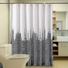 Shower Curtains White Fabric 2018 Modern Letters Tower Shower Curtain Bathroom Product