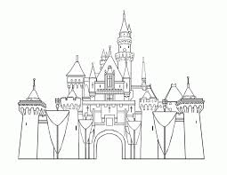 disney castle coloring pages printable kids coloring