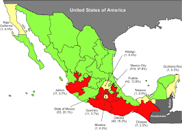 Chiapas Mexico Map Unique Features Of Hla Mediated Hiv Evolution In A Mexican Cohort