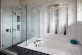 bathroom marble tile design ideas brown color clear glass wash