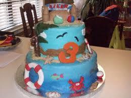 beach and ocean themed birthday cake cakecentral com