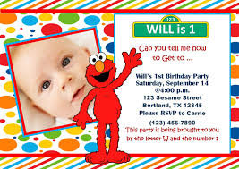 elmo 1st birthday party invitations invitation for baby shower