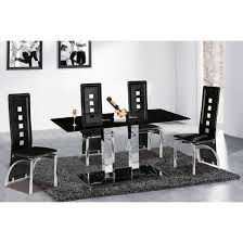 glass dining table for sale holly rectangle black glass dining table and 6 miller chairs