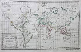 World Map Prints by World Map Mappe Monde Sold Antique Maps And Charts