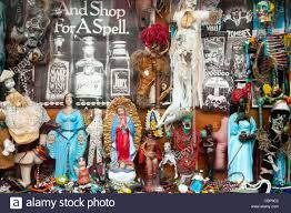 nola voodoo dolls voodoo dolls and religious symbols in a shop window in the