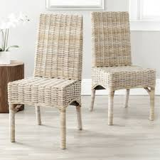 dining rooms ergonomic white wicker dining chairs images white