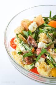 spring panzanella salad u2022 gourmet gab