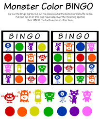 Free Printable Halloween Bingo Cards With Pictures Monster Math Color Match U0026 Bingo Free Printable Worksheets