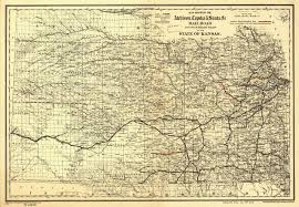 Map Of The State Of Kansas by Atchison Topeka U0026 Santa Fe Railroad