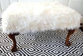Fuzzy White Ottoman Fuzzy White Ottoman Large Size Of White Ottoman Stool Fur Like