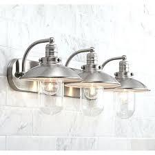 Vintage Bathroom Vanity Lights Light Fixtures For Bathroom Downtown 1 2 Wide Brushed Nickel Bath