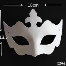 white masquerade masks for women imperial crown diy blank masks for women paper pulp plain white