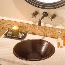 cazo round coppper bathroom sink native trails