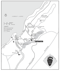 Grand Teton Map A Great Day Hiking And Boating Around Jenny Lake In Grand Teton