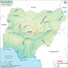 nigeria physical map nigeria river map