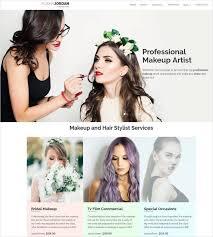 bridal makeup artist websites 10 best makeup artists website templates free premium themes