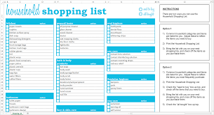 printable household shopping list household shopping list excel template savvy spreadsheets