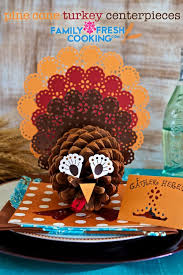Centerpieces For Thanksgiving Pine Cone Turkey Centerpieces Marla Meridith