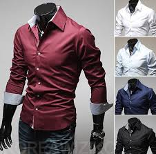 Mens Luxury Designer Clothes - details about new mens luxury casual stylish slim fit dress long