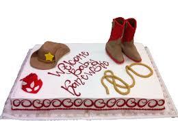 fondant cowboy boots hat lariat and bandana sheet cake three