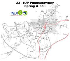 Map Route by Route 23 Iup Punxsutawney Bus Route Schedule And Fares