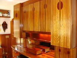 Orange Kitchen Cabinets Fabulous Brown Color Mahogany Wood Kitchen Cabinets Featuring