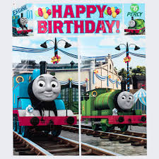 party wall decorations and scene setters shenra com thomas the tank engine wall scene setter only 5