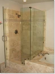 amazing small bathroom shower ideas using clear glass door with