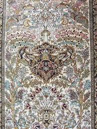 Silk Oriental Rugs Vintage Hand Knotted Genuine Persian Qum Qom 100 Silk Oriental Rug