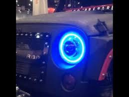 jeep wrangler blue headlights jeep wrangler projector headlights hid halos 7
