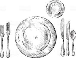 table setting clip art vector images u0026 illustrations istock