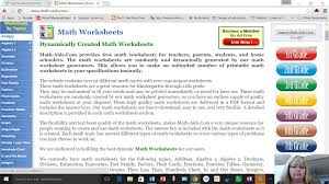 math worksheet generator math aids com youtube