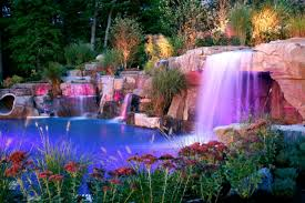 backyard waterfall ideas with luxury decorative garden images