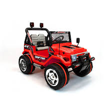 electric jeep for kids xtreme 12v ride on off road 4x4 two seater jeep in red xtreme toys