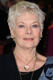 judi dench hairstyle front and back of head judi dench is going blind