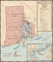Rhode Island On Map Trade In Rhode Island During The 1700s National Geographic Society