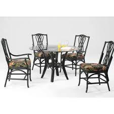 Agio Wicker Patio Furniture - outdoor 5 piece wicker dining bistro table set