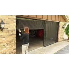 garage door openers at home depot fresh air screens 18 ft x 7 ft 3 zipper garage door screen with