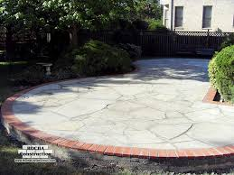 Flagstone Patio On Concrete by Flagstone Patios Rocha Construction Silver Spring Md