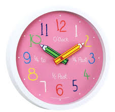 large pink wall clock