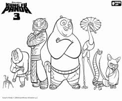 kung fu panda coloring pages printable games