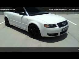 white audi a4 convertible for sale 2003 audi a4 1 8t for sale in port richey fl 34652