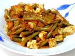 cuisiner des haricots verts haricots verts et tofu a la tomate recette de cuisine alcaline