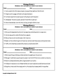 free grammar and spelling daily practice strips use to assess