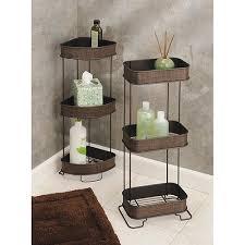 Corner Storage Bathroom Interdesign Twillo Free Standing Bathroom Corner Storage Shelves
