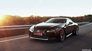 lexus supercar hybrid 2018 lexus lc 500h hybrid color caviar front three quarter