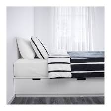 Bed Platform With Drawers Nordli Bed Frame With Storage Queen Ikea